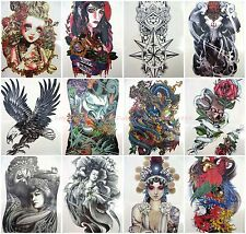 10 sheets Chest Wrist Arm Leg large arm back check thigh leg temporary tattoo