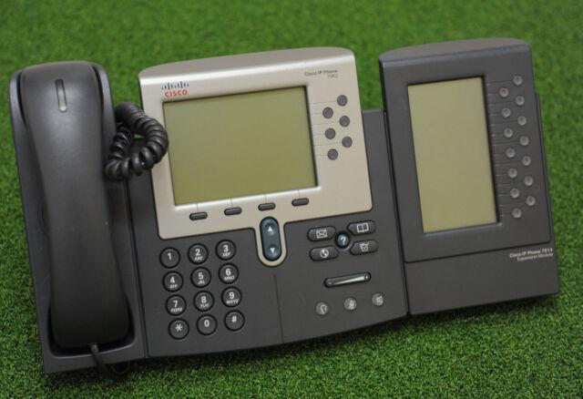 CISCO 7962 CP-7962G UNIFIED IP 6 Line PHONE w/ CP-7914 - 1 YrWty