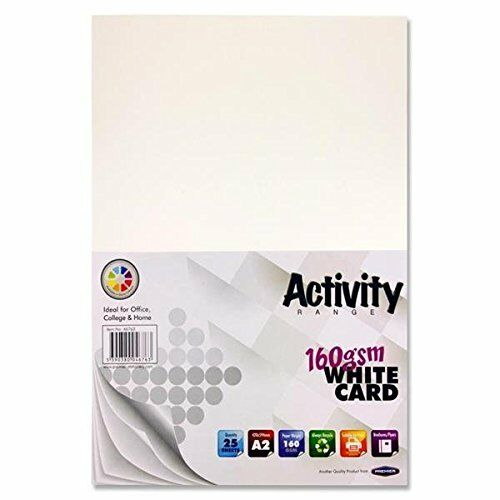 Premier Stationery A2 160 gsm Activity Card White Pack of 25 Sheets
