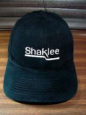 Vintage Black Shaklee Snapback Hat Trucker Cap Nissin Nice Clean