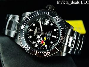 Invicta-Disney-40mm-Pro-Diver-AUTOMATIC-COMBAT-Triple-Black-Limited-Ed-SS-Watch