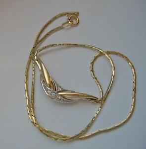 Collier-Kette-mit-Brillanten-diamonds-0-06-ct-in-14-Kt-585-Gold-40-5-cm