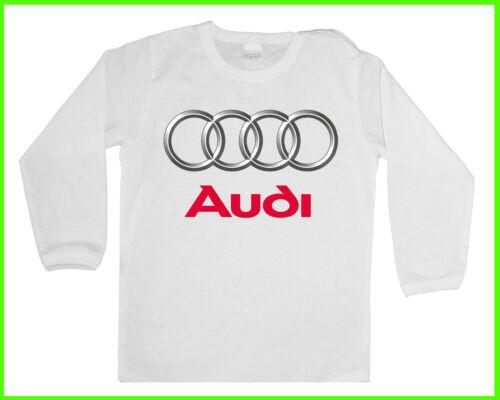 Blusen BABY//KID//TODDLER T-Shirt Jungen//Mädchen LANGARM Long sleeve AUDI LOGO