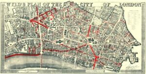 image is loading city of london wyld 039 s plan 19th