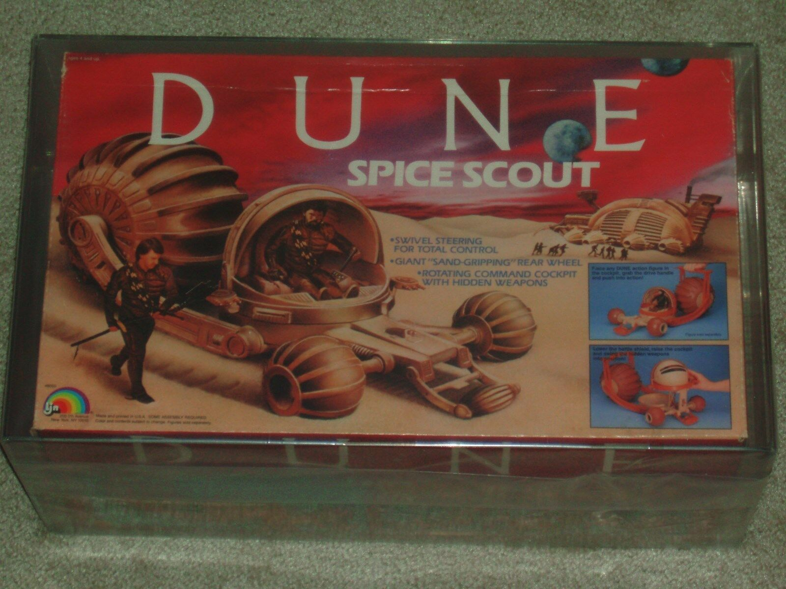 Vintage 1984 DUNE SPICE SCOUT LJN TOYS AFA 75 100% complete and BOXED MIB COA