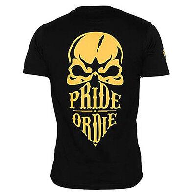 Pride or Die T-Shirt, Reckless, schwarz, MMA Muay Thai, Fightwear, Thaiboxen BJJ