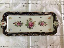 Vintage Lindner Kueps Bavaria Echt Kobalt Rectangular Plate #1092/40