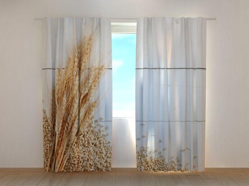 Fotogardine Weizen, Vorhang mit mit mit Foto, Gardine mit Foto, Fotovorhang, auf Maß | Meistverkaufte weltweit  1256fb