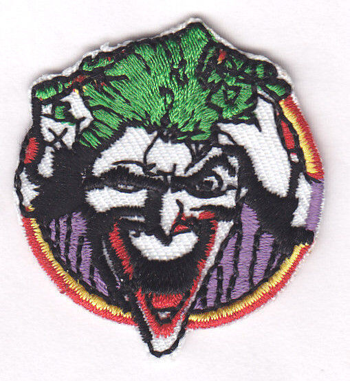THE JOKER LAUGHING (SM) -BATMAN--DC COMICS/Iron On Patch/Movie,Cartoons,Justice