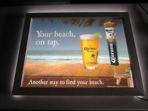 Authentic Corona Extra LED sign YOUR BEACH ON TAP Real ...