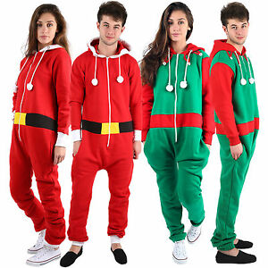 Christmas Jumpsuit Womens.Details About Unisex Womens Mens Christmas Plus Sizes Elf Santa One Piece All In One Jumpsuit