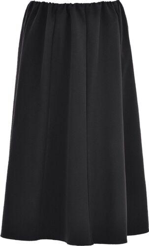 Ladies Womens Plain Coloured 8 Panel Skirt 27 Inch Length Elasticated Waist