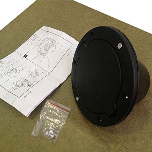 Fuel Filler Door Cover Gas Tank Cap for Jeep Wrangler JK /& Unlimited Parts 2007+
