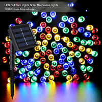 Outdoor Solarpower Christmas Globe Lights 100led 40ft Water Resistant Multicolor
