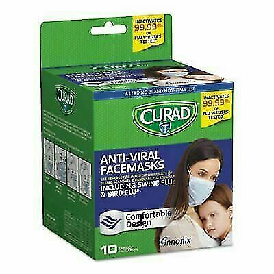 CURAD CUR384S Antiviral Face Mask - 10 Count