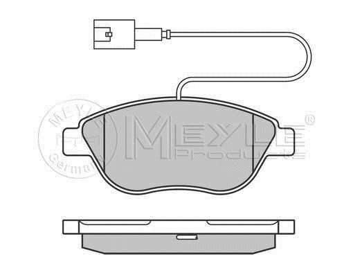 025 237 0919/W MEYLE Brake pad set fit WVA