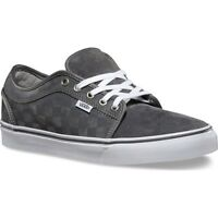 Vans Chukka Low Mens Skate Shoes (new) Checkers Ultracush - Grey White Free Ship