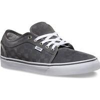 Vans Chukka Low Mens Skate Shoes (new) Checkers Ultracush - Grey White Free Ship