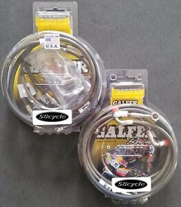 GSXR1000  2007-2008 Galfer Front Brake Lines /& Rear Line Kit Smoke