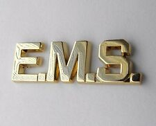 EMS EMERGENCY MEDICAL SERVICES SCRIPT PARAMEDIC GOLD COLOR LAPEL PIN 1 INCH