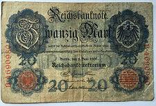20 Zwanzig Mark 1907  Ro28  Deutsches Reich (44)