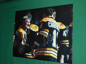 Boston-Bruins-Gregory-Campbell-Autographed-8x10-Photo-w-Bobby-Orr