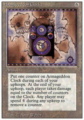 4 Armageddon Clock ~ Lightly Played 3rd Edition Revised 4x x4 Playset UltimateMT