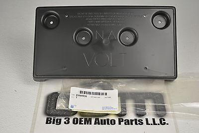 2011-2015 Chevrolet Volt Front License Plate Bracket Black new OEM 25989936