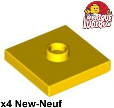 Lego 4x Plate Modified 2x2 Groove 1 stud center beige//tan 87580 NEUF