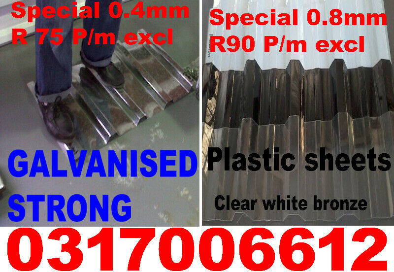 Roof sheeting Durban KZN IBR ,Sold direct to public at factory prices  made new to size as per order