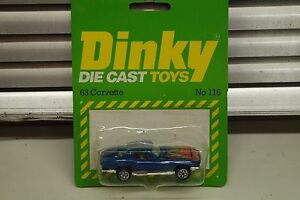 DINKY MATCHBOX SIZE  No 116 63 CORVETTE IN ORIGINAL PACKAGING - <span itemprop='availableAtOrFrom'>Essex, United Kingdom</span> - DINKY MATCHBOX SIZE  No 116 63 CORVETTE IN ORIGINAL PACKAGING - <span itemprop='availableAtOrFrom'>Essex, United Kingdom</span>