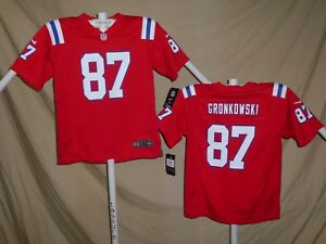 huge selection of cd568 1902d Details about ROB GRONKOWSKI New England Patriots NIKE Game JERSEY Youth  Small NWT $75 red
