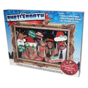 Photo-Booth-24-Piezas-Posando-Accesorios-Marco-Selfie-Diversion-Navidad