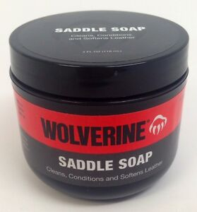 wolverine leather boot shoe cleaner conditioner saddle