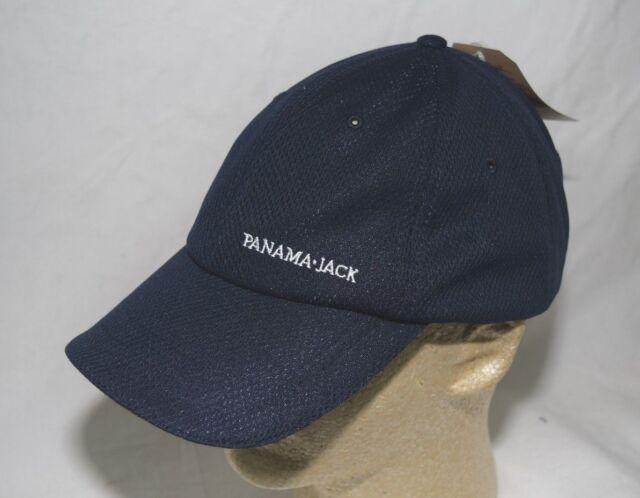 73bc1cc1eef19 Panama Jack Logo Baseball Cap Hat Navy Blue 100 Polyester