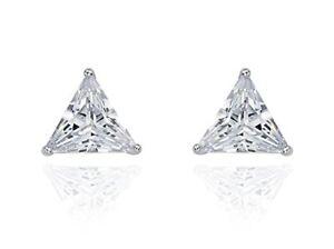 346723a2c 1 Ct Diamond Stud Earrings Triangle Cut Solitaire Stud Earrings 14K ...