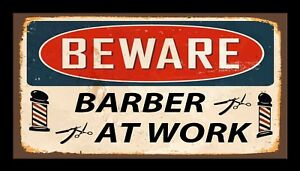 Attention Barbier au Travail Barre Tapis Counter Salon de Coiffure 482 xdN26CSt-09153712-907982929