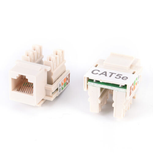 10x RJ45 CAT5e Keystone Jack Ethernet Network Module Wall End Plug ConnectorKRS1