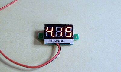 Red LED Voltage Display Board 0 - 30V DC .36 inch Ideal For Mods
