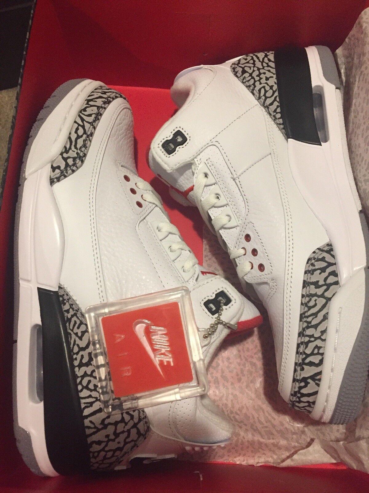 Nike Air Jordan 3 III Retro 88'    White Cement  580775-160 Size 9 2013 DS NIB 88c71e