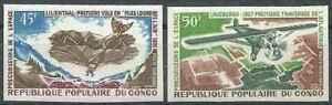 Timbres-Avions-Congo-PA101-2-non-denteles-32710O