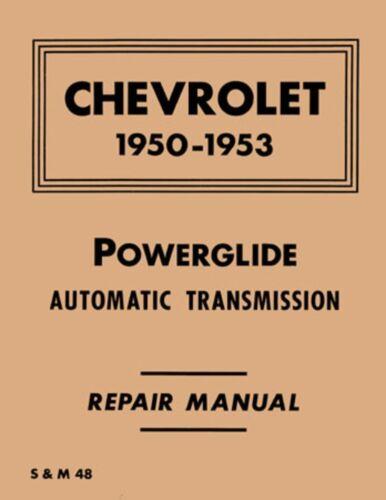 1950 1952 1953 Chevrolet Powerglide Transmission Shop Service Repair Manual Book