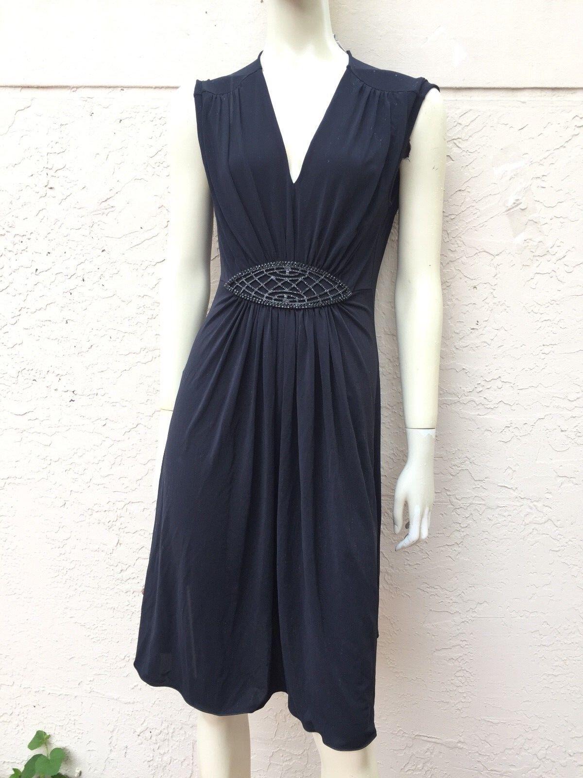 Armani  Collezioni Negro Vestido Adornado Talla 10  punto de venta en línea