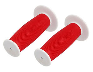 Child Kids Bicycle Grips Mushroom Handle Bar Colorful Bike Grip Red//White NEW
