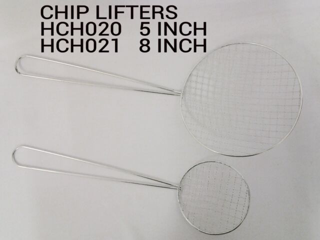 STRAINER DRAINER KITCHEN UTENSIL FOR PAKORAS LARGE CHIP FRENCH FRIES LIFTER