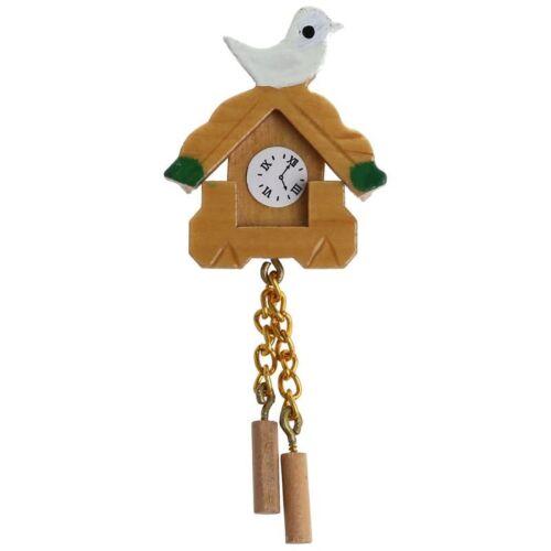 1//12 miniature in legno Bird Orologio da parete artigianato modello Casa delle Bambole decoratio W4K3
