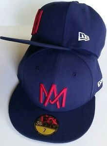 AGUILAS DE MEXICALI MEXICO BASEBALL NEW ERA 59 FIFTY FITTED DARK ... 891e303ee2d