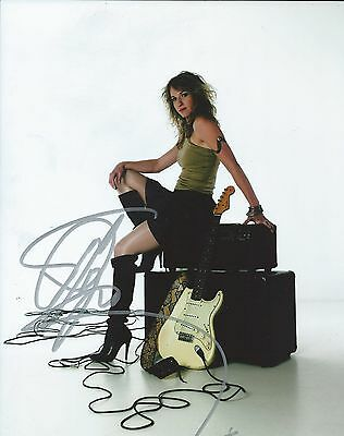 Entertainment Memorabilia Rock & Pop Professional Sale Ana Popović Blues Guitarist Hand Signed 8x10 Photo Autographed W/coa The Latest Fashion