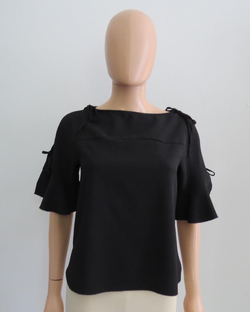 See By Chloe schwarz Short-Sleeved Blouse Top Größe 34