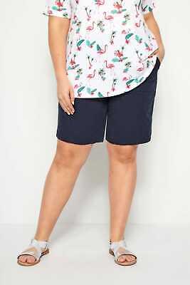 YOURS Womens 5 Pocket Long Denim Shorts Sizes 28-32 Uk BNWT RRP £23.98 Indigo